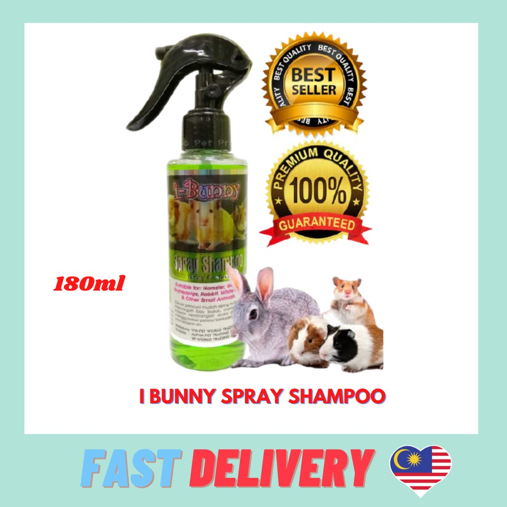 I BUNNY ( EASY CLEAN ) 180 ML for small animals hamster guinea pig  rabbit