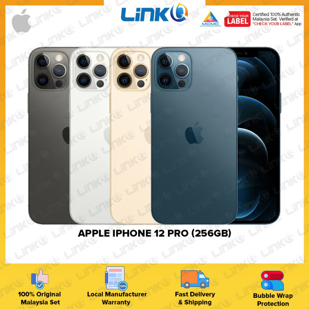 [ETA MID OF NOV] Apple iPhone 12 Pro 256GB (5G) Smartphone - Original 1 Year Warranty by Apple Malaysia