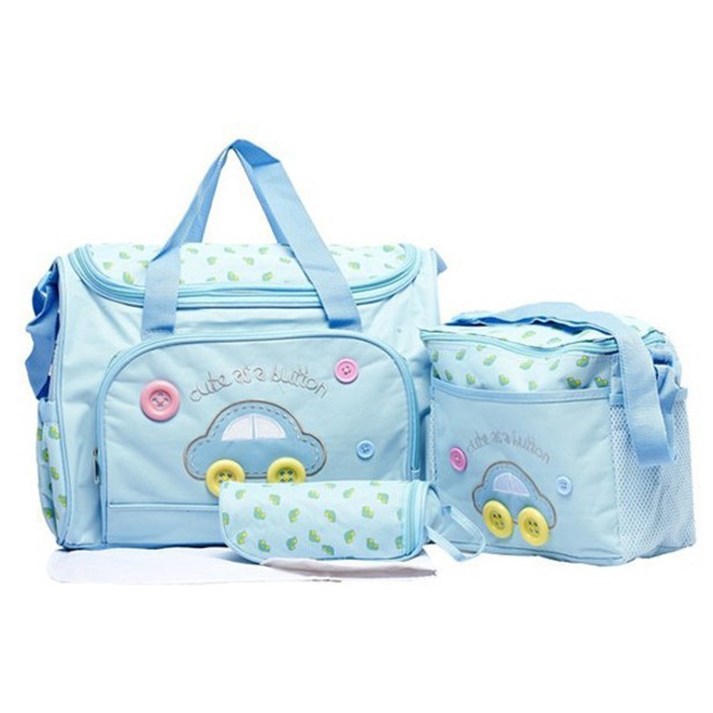4Pcs Mummy Bags Baby Diaper Stroller Bags for Mom Nappy Changing Bags Set