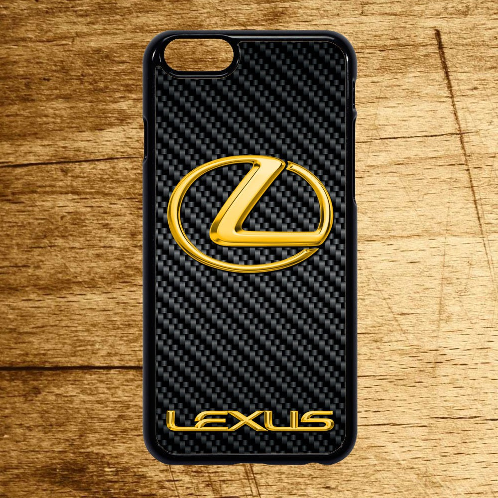 new arrival eb892 e5c22 Lexus Carbon Gold Logo Phone Case Cover for IPhone