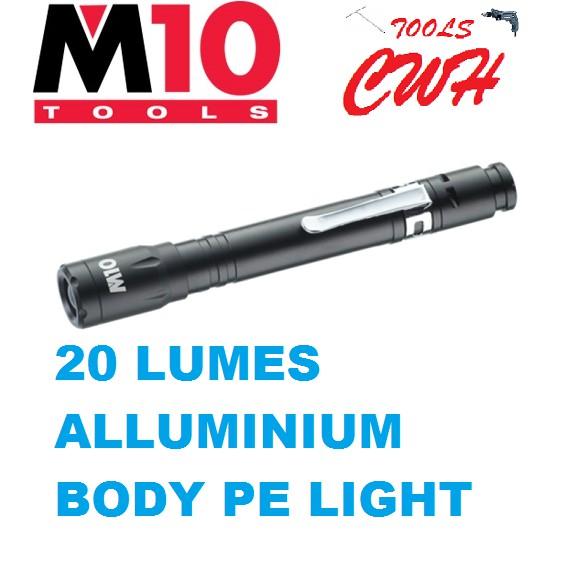LE020 M10 ALUMINIUM PEN LIGHT TORCHLIGHT FLASHLIGHT LIGHT NICRON LE-020 CWH TOOLS BLACK HARDWARE BLACKHOME