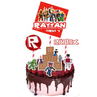 Roblox Number Cake Roblox Game Customize Top Cake Topper No Diy Needed Decoration For Boys Birthday Party Shopee Malaysia