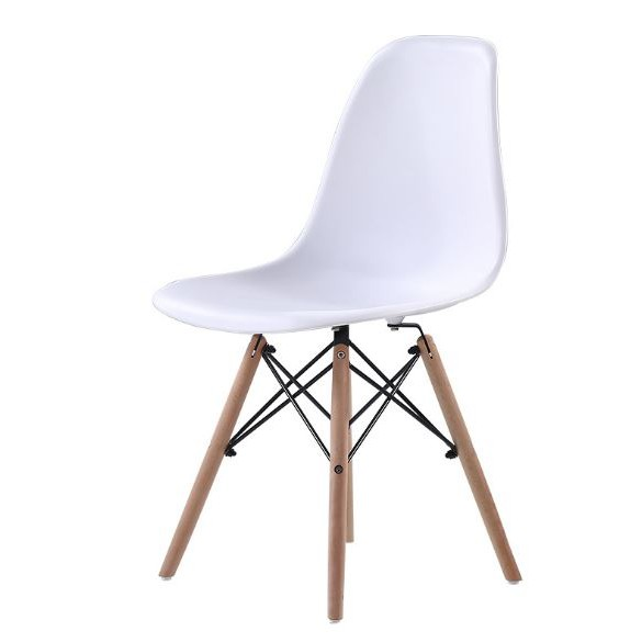 Creative Lifestyle Home Office Medium Back Eames Chair (White)