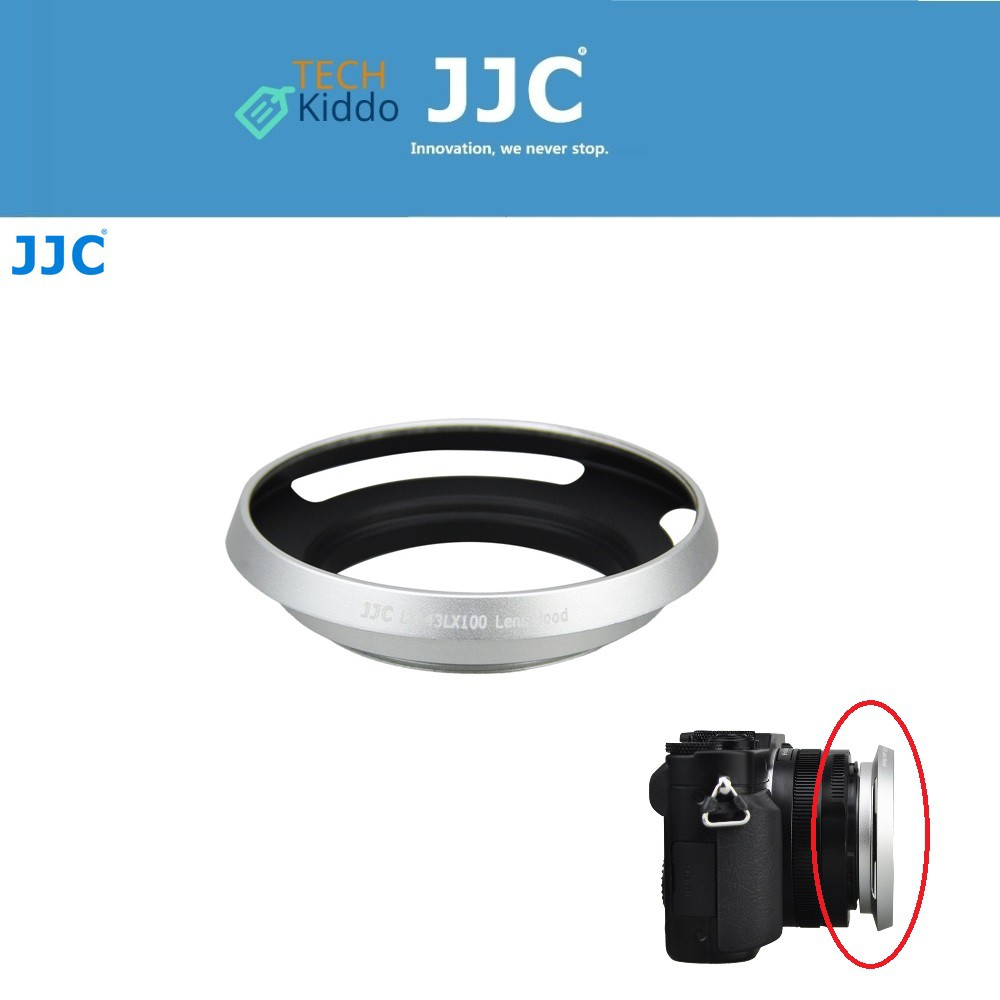 Camera JJC LH-43LX100 Metal Lens Hood Shade for Panasonic LUMIX DMC-LX100 /& LEICA D-LUX Typ 109