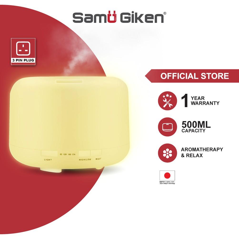 Samu Giken Aroma Humidifier Purifier Diffuser Quiet Light Diffuse (500ml)