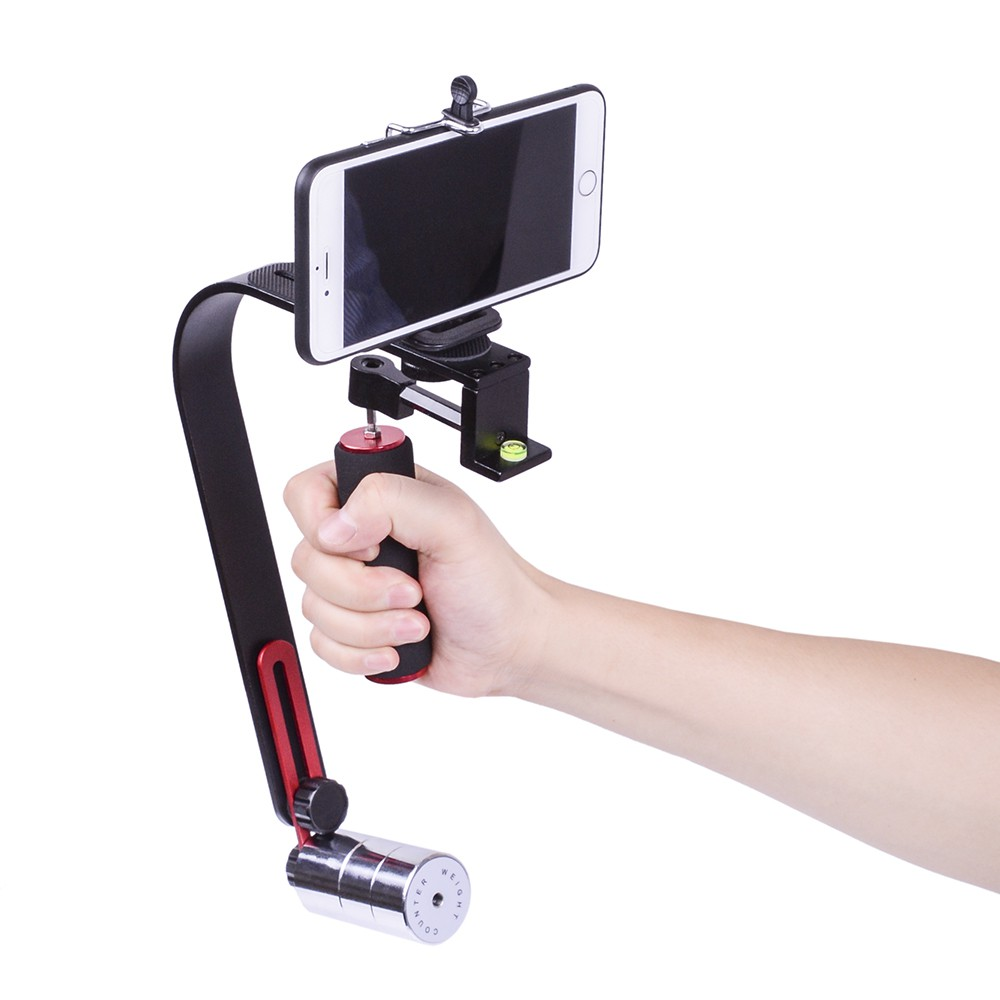 Sp50 Aluminum Alloy Mini Steadicam Handheld Stabilizer Portable Way Gradienter Switch Sensor Video Shopee Malaysia