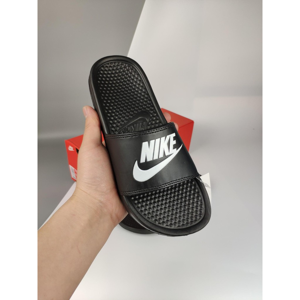 online retailer e55e9 54a8a New Arrival Ready Stock 100original Nike Swoosh Slipper All Black Unisex  Sandals