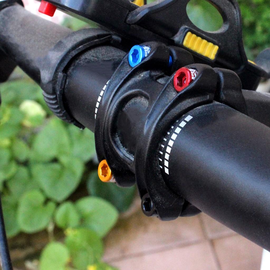 4pcs//bag Bicycle Handlebar Stem Screw M5x17mm Aluminum Alloy Bolt Fixed Gear HI