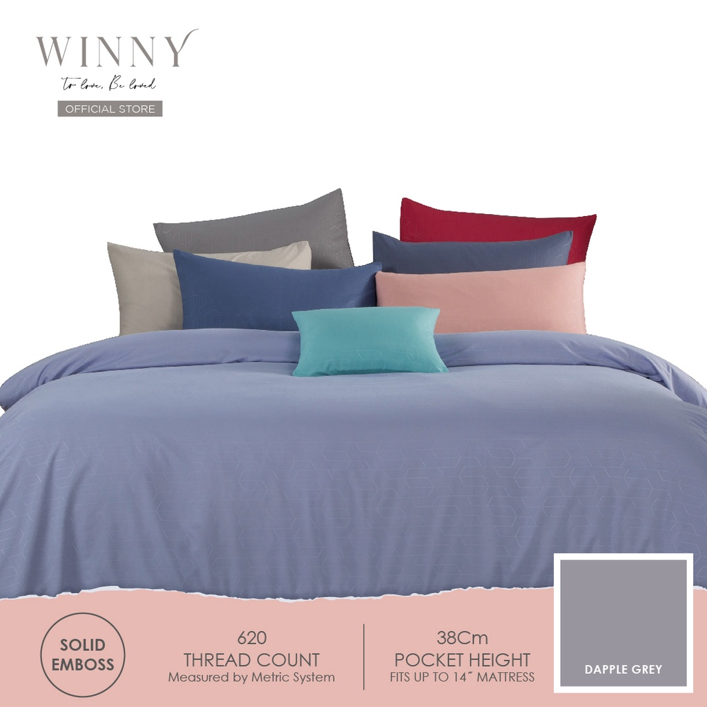 Winny Relish Fitted Sheet Set-620TC (SUPER SINGLE/QUEEN/KING)