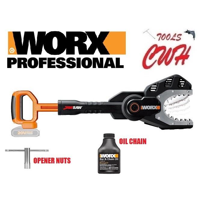 WORX WG329E.5 15CM 20V CORDLESS BATTERY JAWSAW® CORDLESS CHAIN SAW WOOD CUTTER WA3551 WA3551.1
