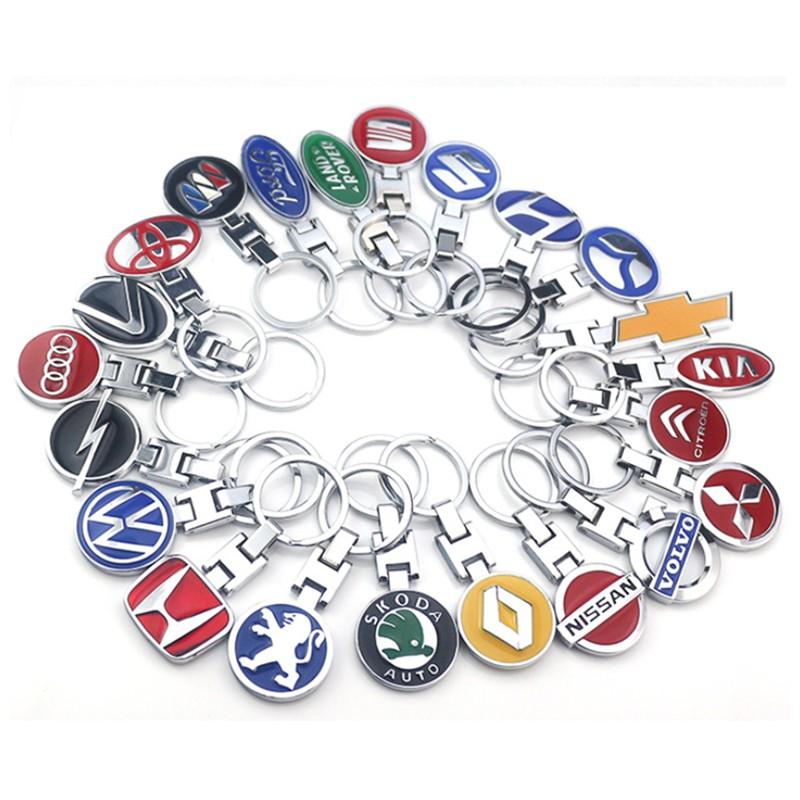 Citroen Car Logo Keychain 3D Chrome Metal Car key Chain keyring With Logo