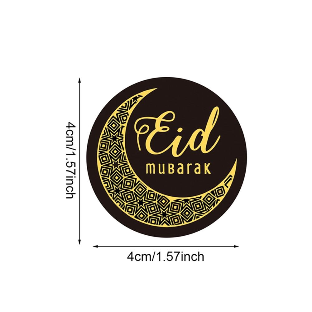 40 60 120PCS Eid Mubarak Celebration Stickers Labels 4CM For Party Wedding