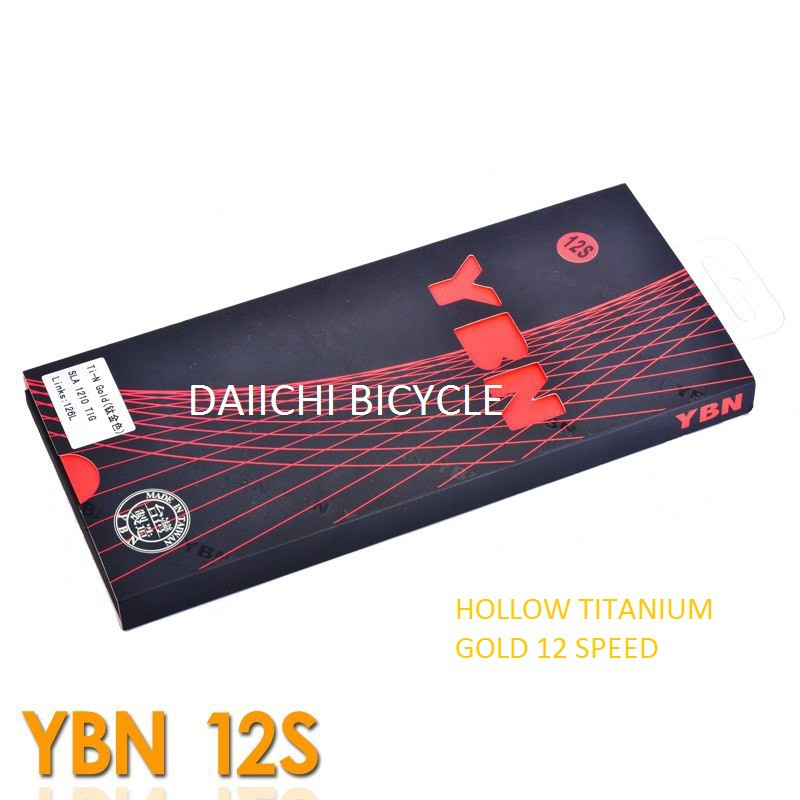 YBN Ti-Gold 10 Speed Bike Chain 116 Links for Shimano Sram Campagnolo