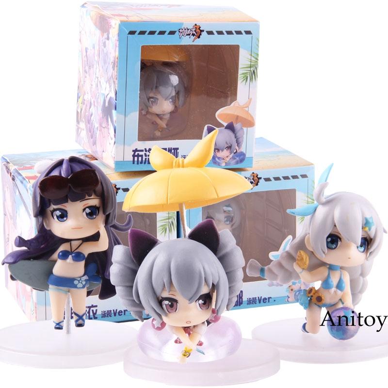 Anime 3pcs Set Honkai Impact 3 PVC Figure Toy Gift New Toy No Box