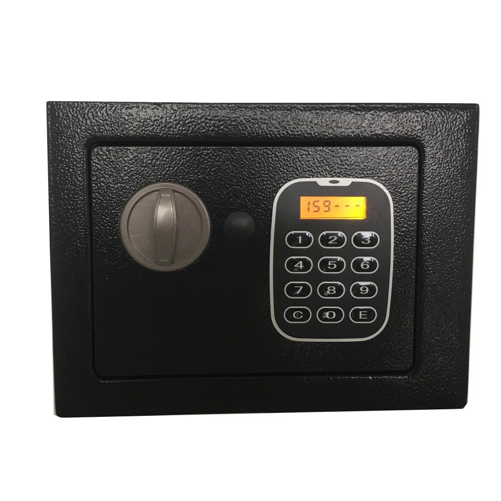 f1478528d67f Home Wall mounted Steel Keypad Lock LCD Display Jewelry Money Safe Box