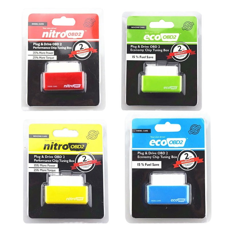 Nitro Eco OBD2 Economy Chip Tuning Box Save Fuel Petrol Vehicles Fit For Nissan