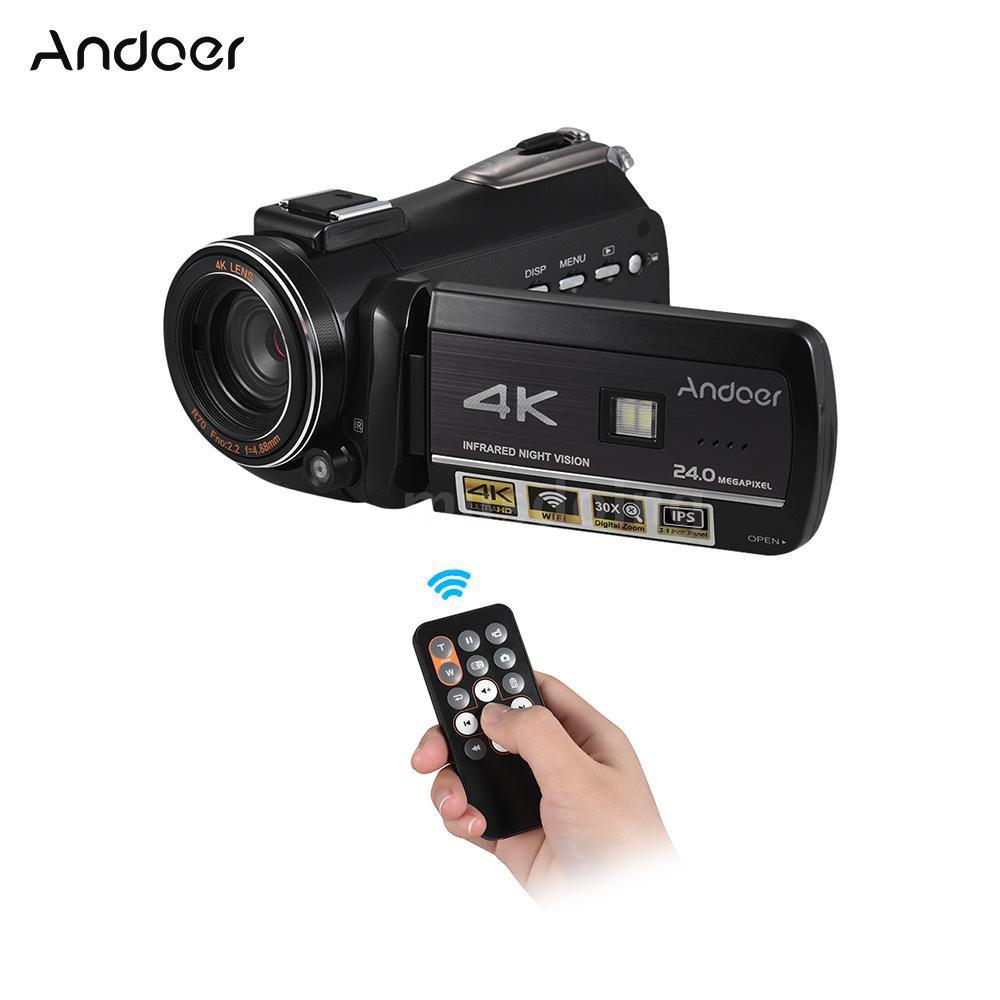 Andoer AC3 4K UHD 24MP Digital Video Camera Camcorder Recorder DV 30X Zoom  3 1 I