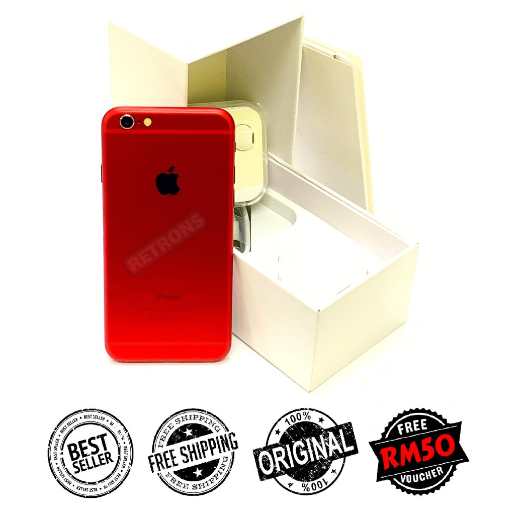 🇲🇾 Original Apple iPhone 6 | 6 Plus | 6s | 6s Plus Limited Edition RED Colour FREE RM50 Voucher [1 Month Warranty]