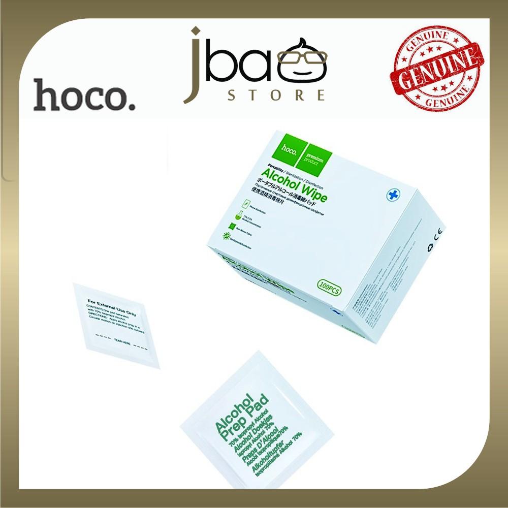Hoco Portable alcohol disinfection cotton wipes phone elevators travel kill virus Grab 100pcs