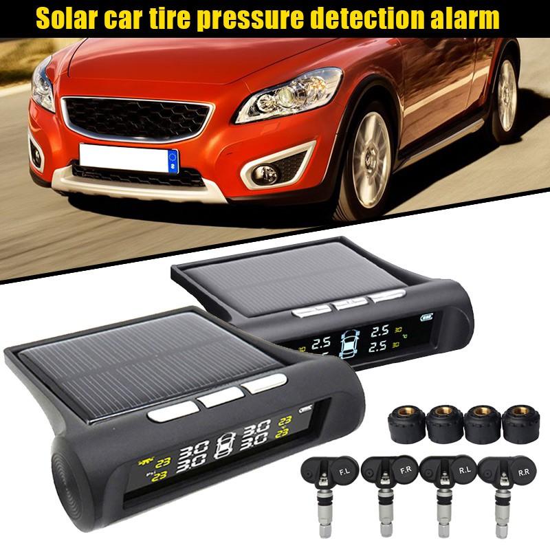 ☺SC Solar Power TPMS Car Tyre Pressure Monitoring System Auto Tire Alarm