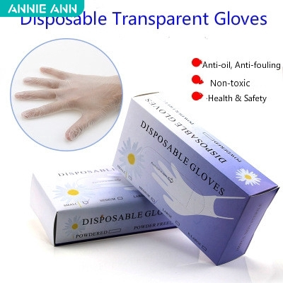 ถุงมือยาง pvc ถุงมือ ถุงมือยางใส ถุงมือซิลิโคน ป้องกันไฟฟ้าสถิตและป้องกันน้ำมัน ใช้แล้วทิ้ง 50