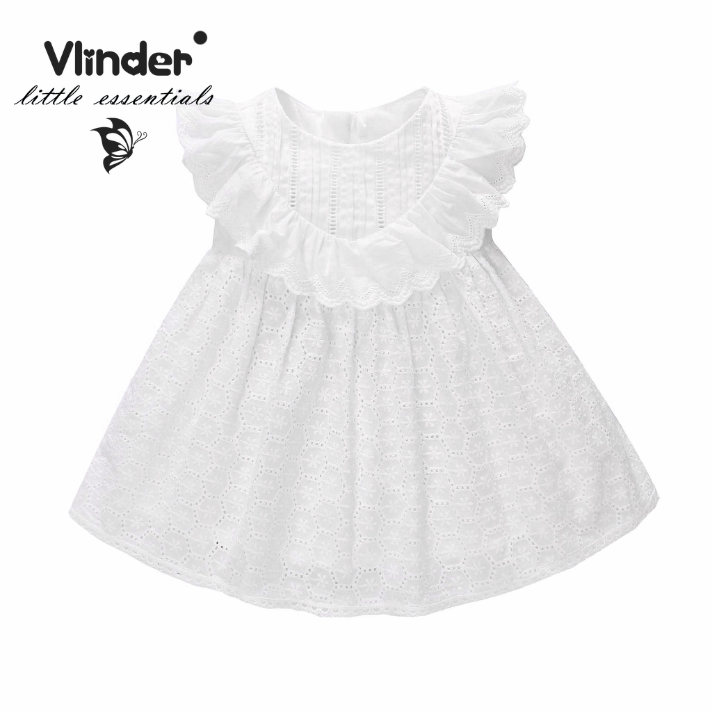 d1c75decba086 White lace embroidered girl dress Birthday Party Princess Dress