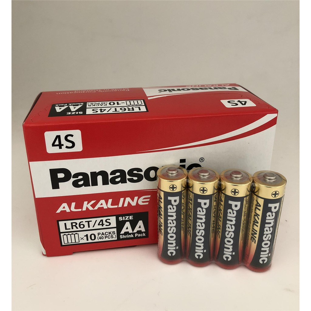 Panasonic Alkaline LR6T AA 1.5V Premium Alkaline Battery 4pcs - NO Mercury Added. EXPIRES IN 2029/2030