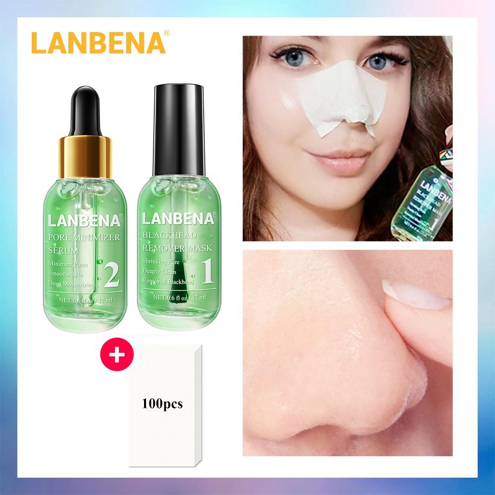 Lanbena Green Tea Blackhead Remover Nose Mask Pore Strip Peeling