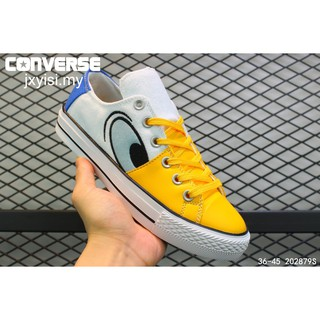 Disney x Converse All Star 100 FC OX Donald Duck 100th shoes men women leather canvas yellow sneakers