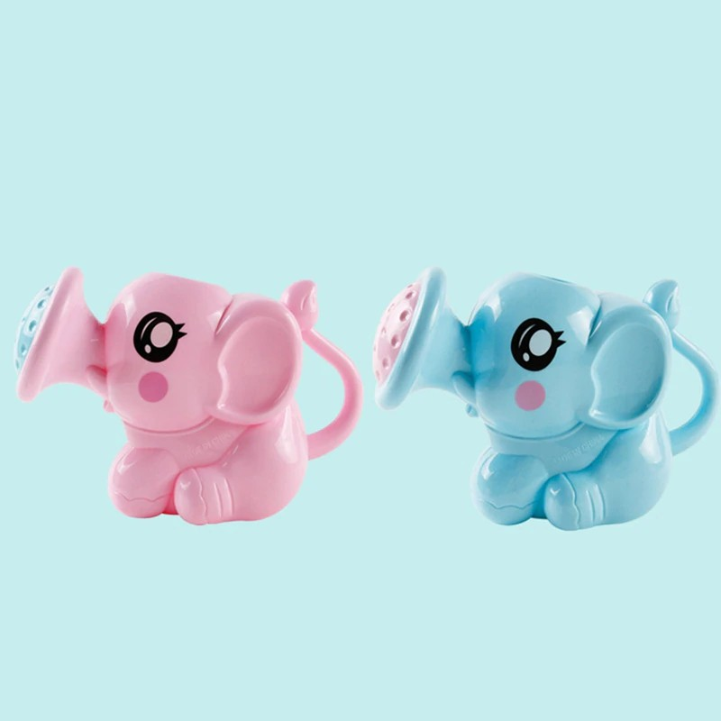 Baby Elephant Watering Can Bath Toys Cartoon Newborn Kids Shower Tool Lin