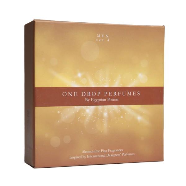 One Drop Perfumes Men Set 4   Original Hard Box   Wangian Lelaki Set 4 One Drop Perfumes