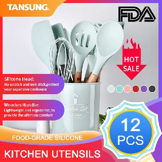 ⭐ready Stock⭐12pcs Cooking Tools Kitchen Cookware Set