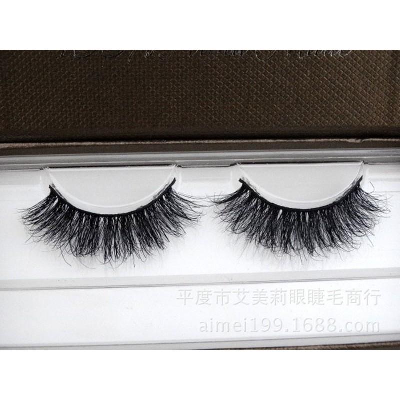 5a15aaf254e ProductImage. ProductImage. 1 Pair 100% Mink Natural Thick False Fake  Eyelashes Eye Lashes Makeup Extension