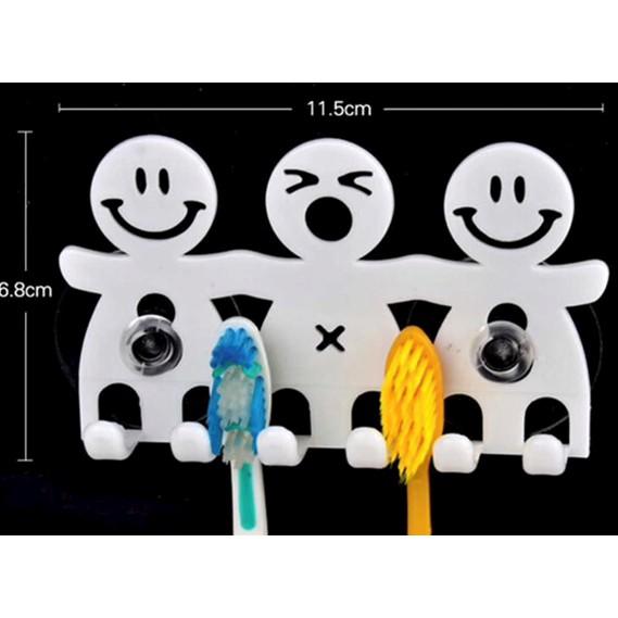 Bathroom Sets cute Cartoon Sucker Toothbrush Holder Suction Hooks 5 Position Tooth Brush Holder