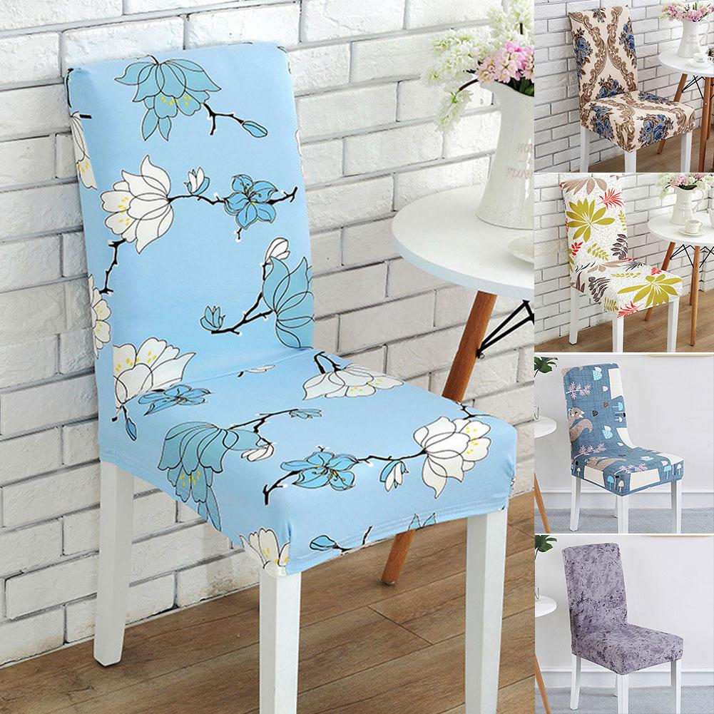 Peachy Wedding Kitchen Modern Printed Anti Dirty Elastic Home Polyester Chair Cover Download Free Architecture Designs Intelgarnamadebymaigaardcom