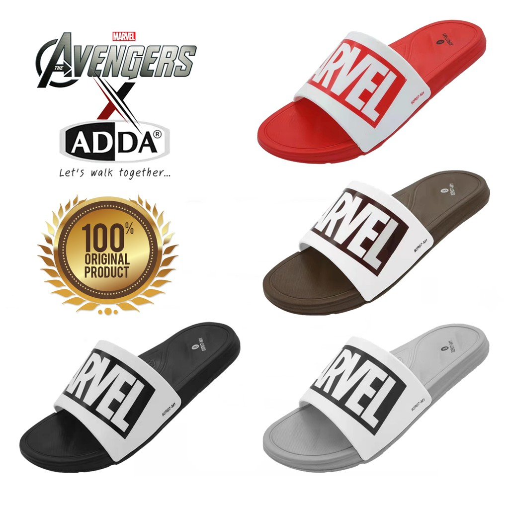 Original ADDA X MARVEL Men Slides / Sandal Original ADDA X MARVEL Lelaki [READY STOCK]
