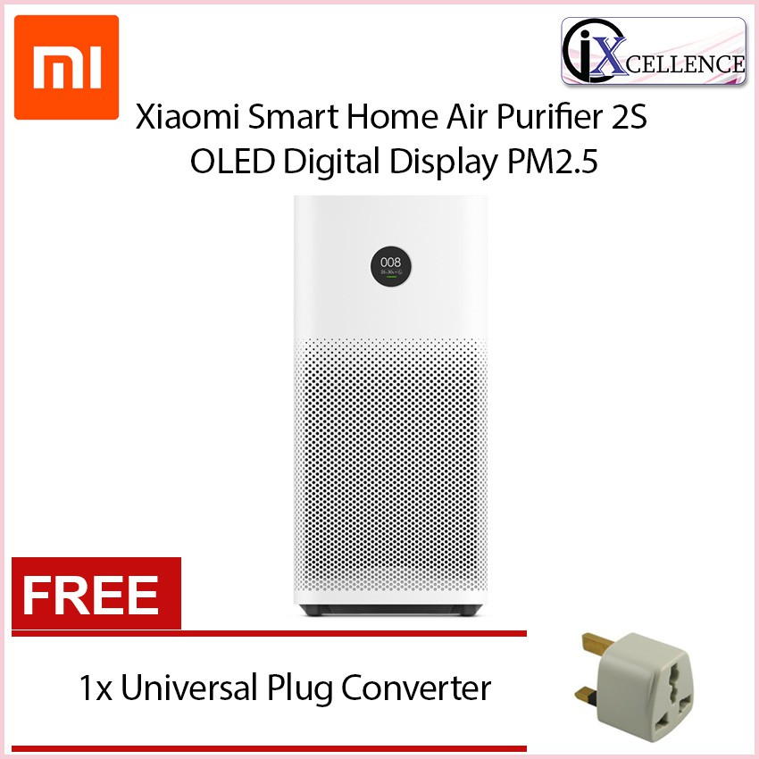Xiaomi Mi Home Smart Home Air Purifier 2S OLED Digital Display PM2 5