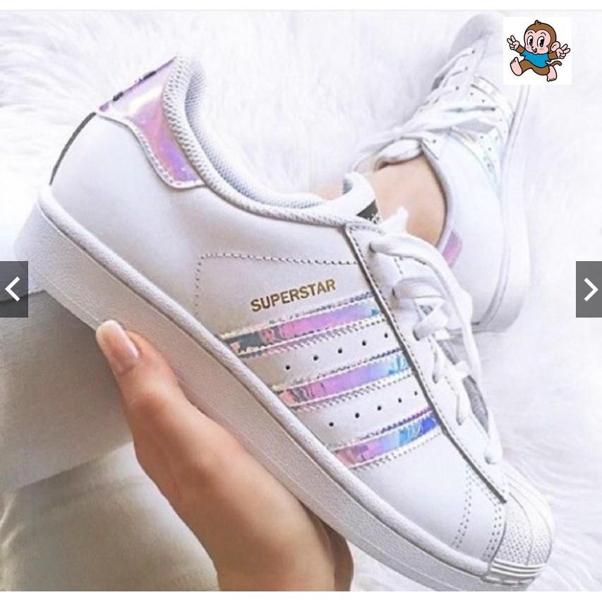 adidas superstar holographic stripes uk