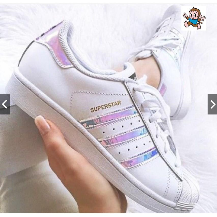 READY STOCk Adidas Superstar (Holographic Gold Tag) | Shopee