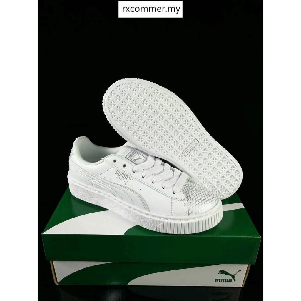4327f4b4e2 OrigReadyal Puma Basket Platform Ocean women casual shoes 36-39