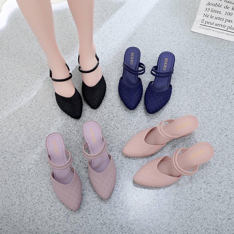 Single Fashion Soft Non Frosted Sandals Slope Heel Women's Shoes Flat Slip T1FKclJ