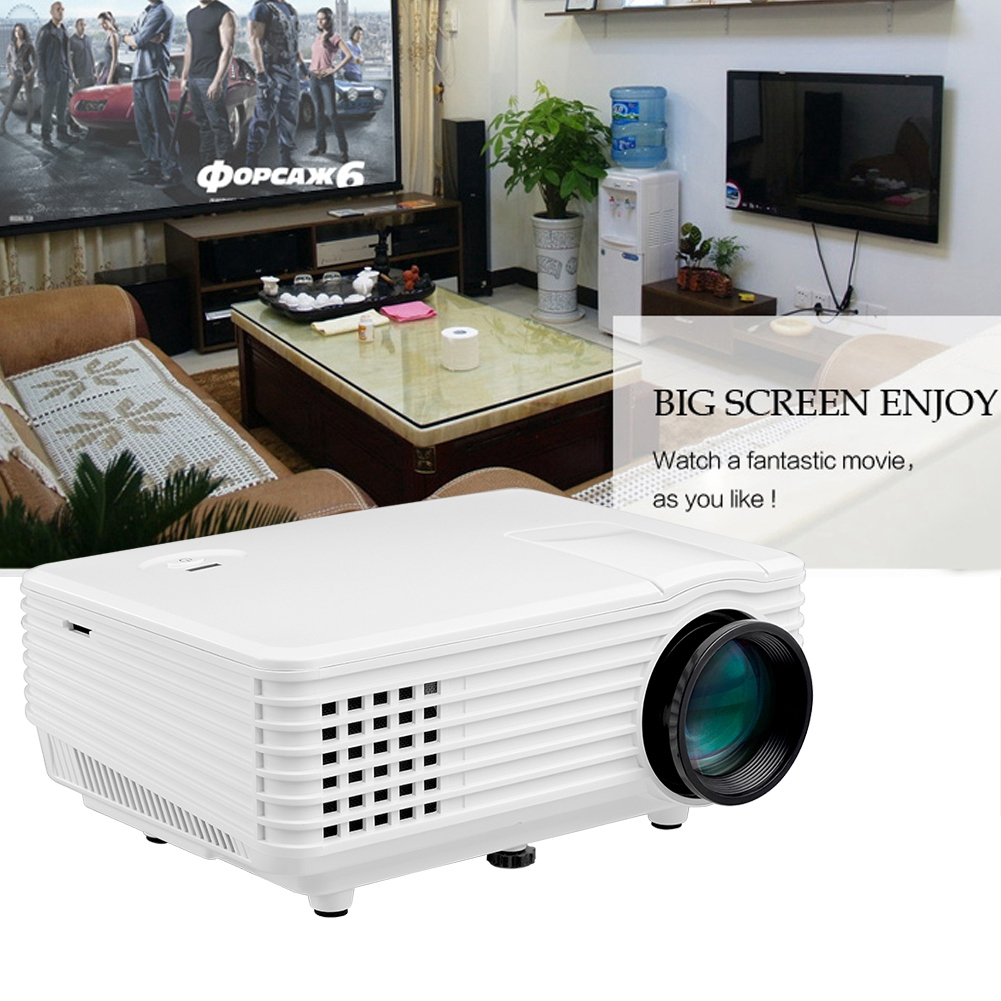 RD-805A Miniature LED Projector Smart Projector 1080P Full HD White 100-240V