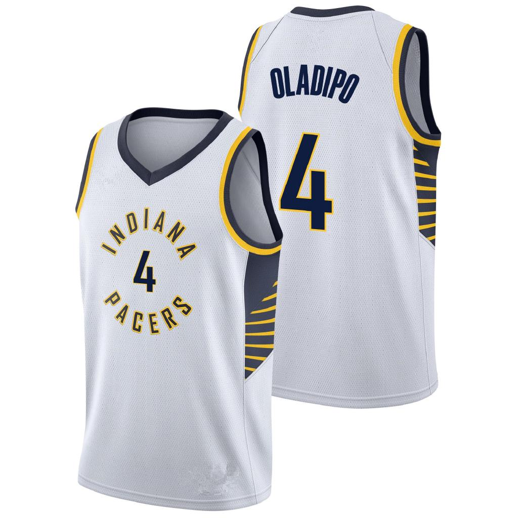 hot sale online a4aac cbe97 Victor Oladipo Basketball Jersey #4 Sports Indiana Pacers ...