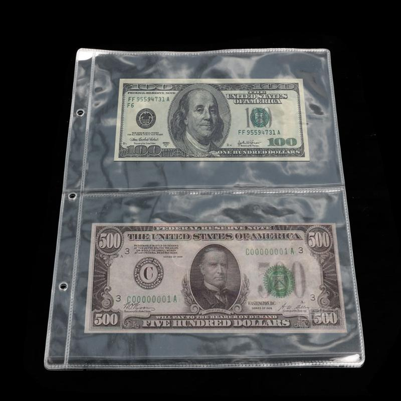 60 Coin Album Currency Storage Box Banknote Holder Universal Protection Holder