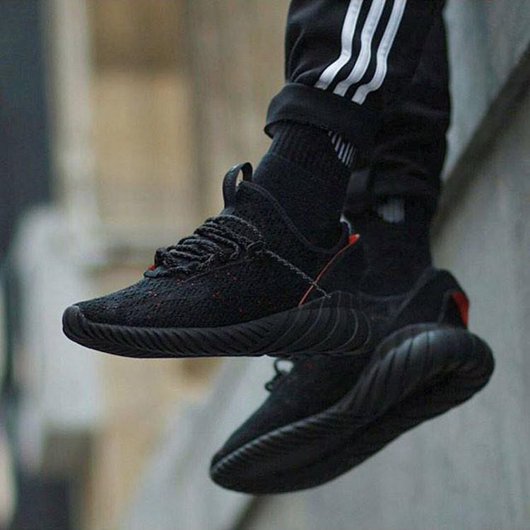 good quality look for famous brand authentic Adidas Tubular Doom Sock Primeknit 'Core Black'