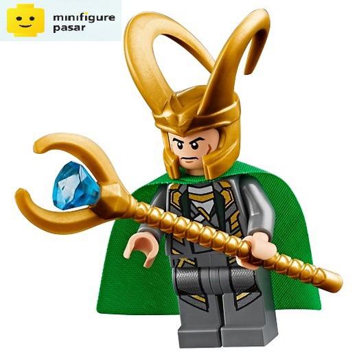 Lego Marvel Loki minifigure mini figure