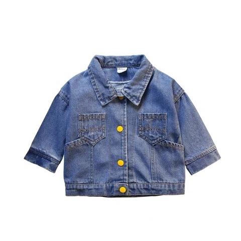[80~130]Boys Fashion Baby Boys denim jacket 男童牛仔外套