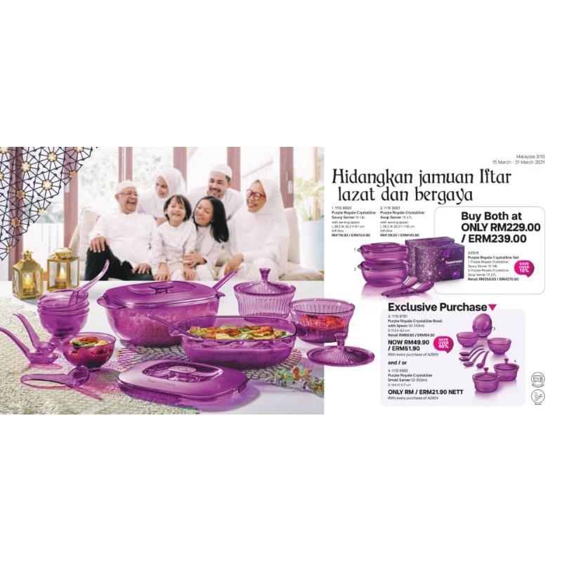 Purple Royal Crystalline Set Tupperware🎊