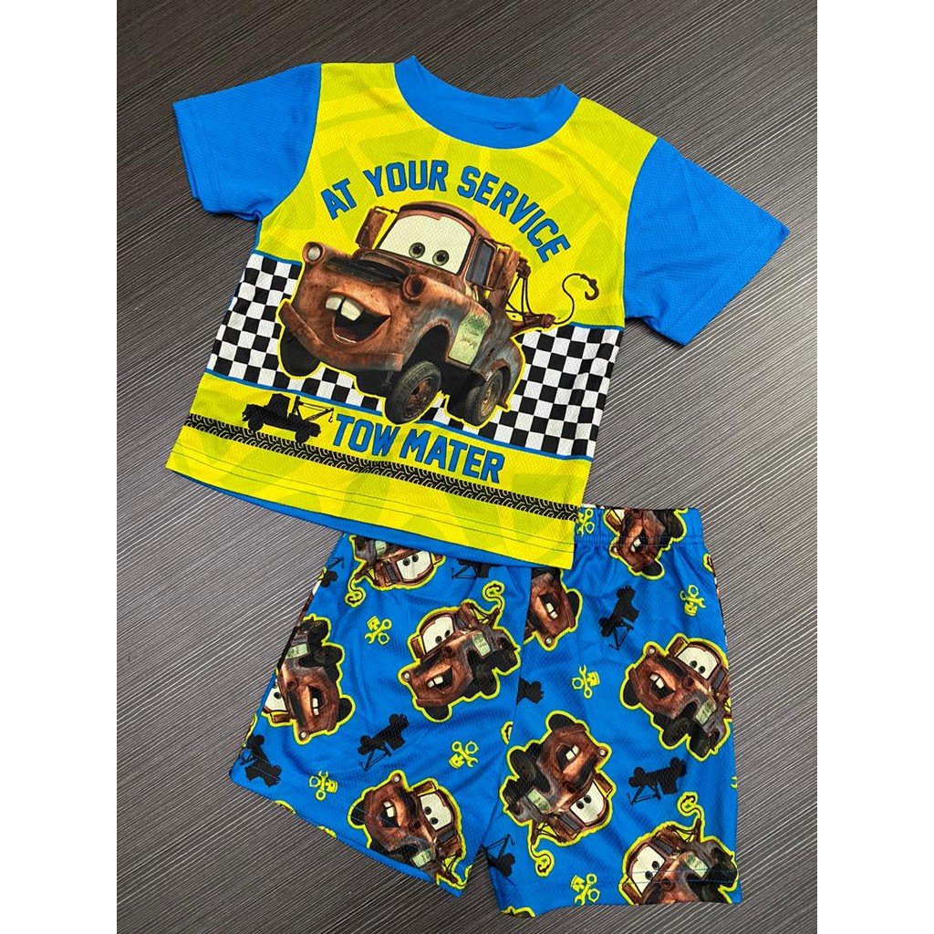 3-5 yrs old Boys Disney Cars Lighting McQueen/ Thomas The Tank Engine Kids Cotton Short Sleeves T shirt