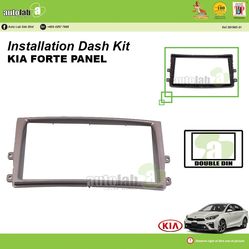 Player Casing Double Din KIA Forte Panel